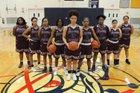 Syracuse Academy of Science Atoms Girls Varsity Basketball Winter 17-18 team photo.