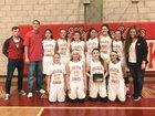 Centennial Golden Hawks Girls Varsity Basketball Winter 17-18 team photo.