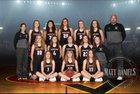 Castle View Sabercats Girls Varsity Basketball Winter 17-18 team photo.