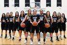Volcano Vista Hawks Girls Varsity Basketball Winter 17-18 team photo.