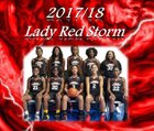 Capital Christian Academy Red Storm Girls Varsity Basketball Winter 17-18 team photo.