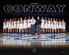 Conway Wampus Cats Girls Varsity Basketball Winter 17-18 team photo.