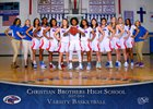 Christian Brothers Falcons Girls Varsity Basketball Winter 17-18 team photo.