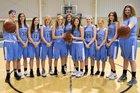 Coastal HomeSchool Hurricanes Girls Varsity Basketball Winter 17-18 team photo.