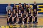Coventry Comets Girls Varsity Basketball Winter 17-18 team photo.