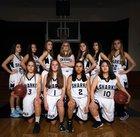 Puget Sound Adventist Sharks Girls Varsity Basketball Winter 17-18 team photo.