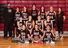 Omak Pioneers Girls Varsity Basketball Winter 17-18 team photo.