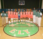 Blanche Ely Tigers Girls Varsity Basketball Winter 17-18 team photo.