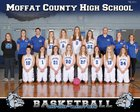 Moffat County Bulldogs Girls Varsity Basketball Winter 17-18 team photo.