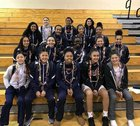 Cosumnes Oaks Wolfpack Girls Varsity Basketball Winter 17-18 team photo.