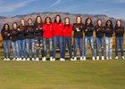 Sandia Matadors Girls Varsity Basketball Winter 17-18 team photo.
