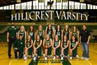 Hillcrest Huskies Girls Varsity Basketball Winter 17-18 team photo.
