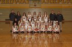 Speedway Sparkplugs Girls Varsity Basketball Winter 17-18 team photo.