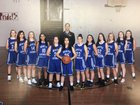 Seattle Lutheran Saints Girls Varsity Basketball Winter 17-18 team photo.