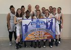 Fairfax HomeSchool Hawks Girls Varsity Basketball Winter 17-18 team photo.