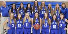 St. John's/Tipton Catholic Blujays Girls Varsity Basketball Winter 17-18 team photo.