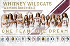 Whitney Wildcats Girls Varsity Basketball Winter 17-18 team photo.