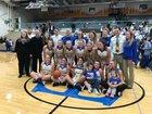Tri-Central Trojans Girls Varsity Basketball Winter 17-18 team photo.