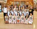 North Beach Hyaks Girls Varsity Basketball Winter 17-18 team photo.