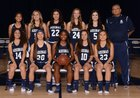 Aquinas Falcons Girls Varsity Basketball Winter 17-18 team photo.