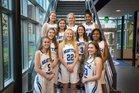 Seattle Prep Panthers Girls Varsity Basketball Winter 17-18 team photo.