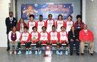 Skyline Raiders Girls Varsity Basketball Winter 17-18 team photo.