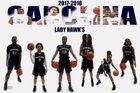 Carolina Prep Academy Hawks Girls Varsity Basketball Winter 17-18 team photo.