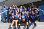 East Valley Falcons Girls Varsity Basketball Winter 17-18 team photo.