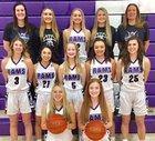 North Thurston Rams Girls Varsity Basketball Winter 17-18 team photo.