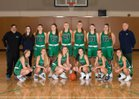 Woodinville Falcons Girls Varsity Basketball Winter 17-18 team photo.