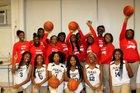 Johnson Pumas Girls Varsity Basketball Winter 17-18 team photo.