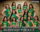 Pecos Panthers Girls Varsity Basketball Winter 17-18 team photo.