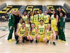 Sierra Pacific Golden Bears Girls Varsity Basketball Winter 17-18 team photo.