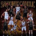 Salpointe Catholic Lancers Girls Varsity Basketball Winter 17-18 team photo.