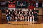 Lake Travis Cavaliers Girls Varsity Basketball Winter 17-18 team photo.