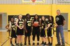 Emerson Pirates Girls Varsity Basketball Winter 17-18 team photo.