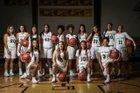 Hot Springs Trojans Girls Varsity Basketball Winter 17-18 team photo.