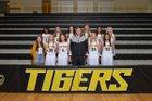 Prairie Grove Tigers Girls Varsity Basketball Winter 17-18 team photo.