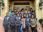 Selma Saints Girls Varsity Basketball Winter 17-18 team photo.