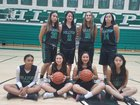 Hilltop Lancers Girls Varsity Basketball Winter 17-18 team photo.