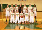 Richland Bombers Girls Varsity Basketball Winter 17-18 team photo.