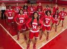 Crosby Cougars Girls Varsity Basketball Winter 17-18 team photo.