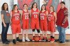 Corona Cardinals Girls Varsity Basketball Winter 17-18 team photo.