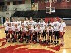 Lansing Lions Girls Varsity Basketball Winter 17-18 team photo.