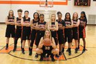 East Moline United Panthers Girls Varsity Basketball Winter 17-18 team photo.