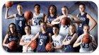 Reavis Rams Girls Varsity Basketball Winter 17-18 team photo.