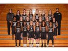 Glenbard North Panthers Girls Varsity Basketball Winter 17-18 team photo.