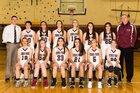 Kings Park Kingsmen Girls Varsity Basketball Winter 17-18 team photo.