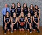 Waterville Indians Girls Varsity Basketball Winter 17-18 team photo.