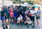Palisades Dolphins Girls Varsity Basketball Winter 17-18 team photo.